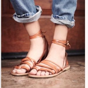 Free People leather wrap sandals